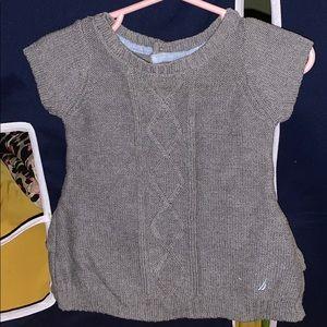 Baby Grey Knit Nautical Dress
